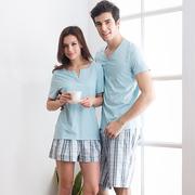 Качество хлопка летом пижамы костюм нижнее белье случайные пары