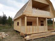 Дома из бруса Артем 6×8 установка в Светлогорске